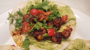 Red Chile Shrimp (or Fish) Tacos
