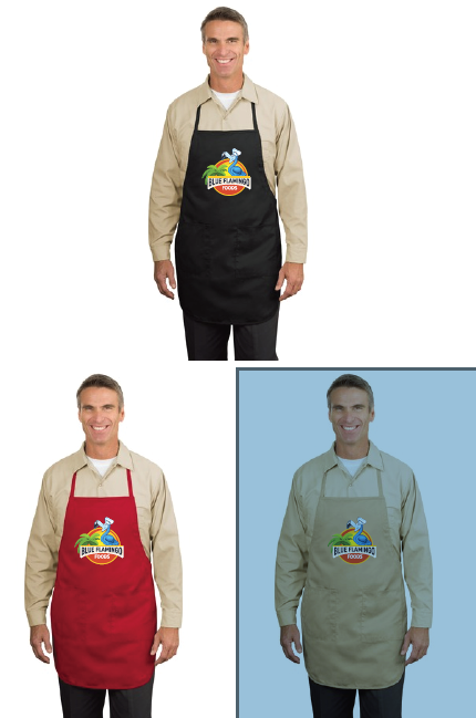Blue Flamingo Foods Apron