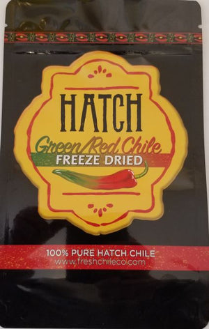 "Freeze Dried Red and Green ""Pinto"" Hatch Chile"