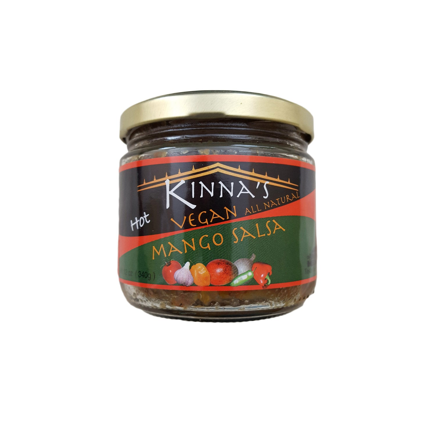 Kinna's Vegan All Natural Mango Salsa - Hot