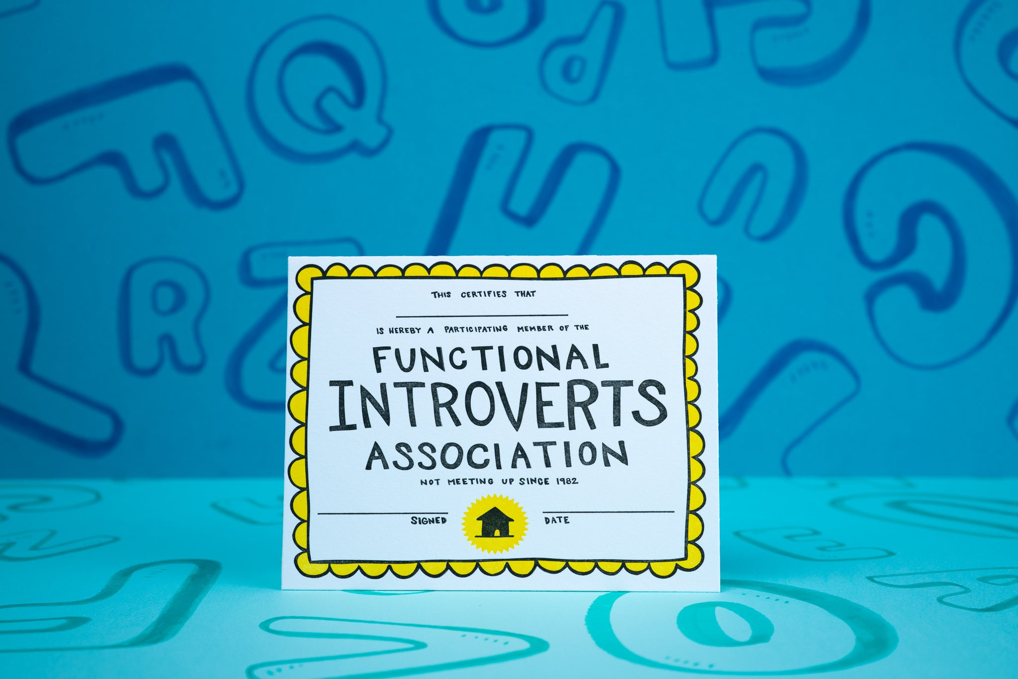 Functional Introverts Association Certificate