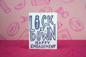 Lock It Down Engagement Card