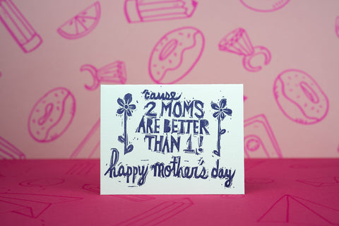 Two Moms Mother's Day Card