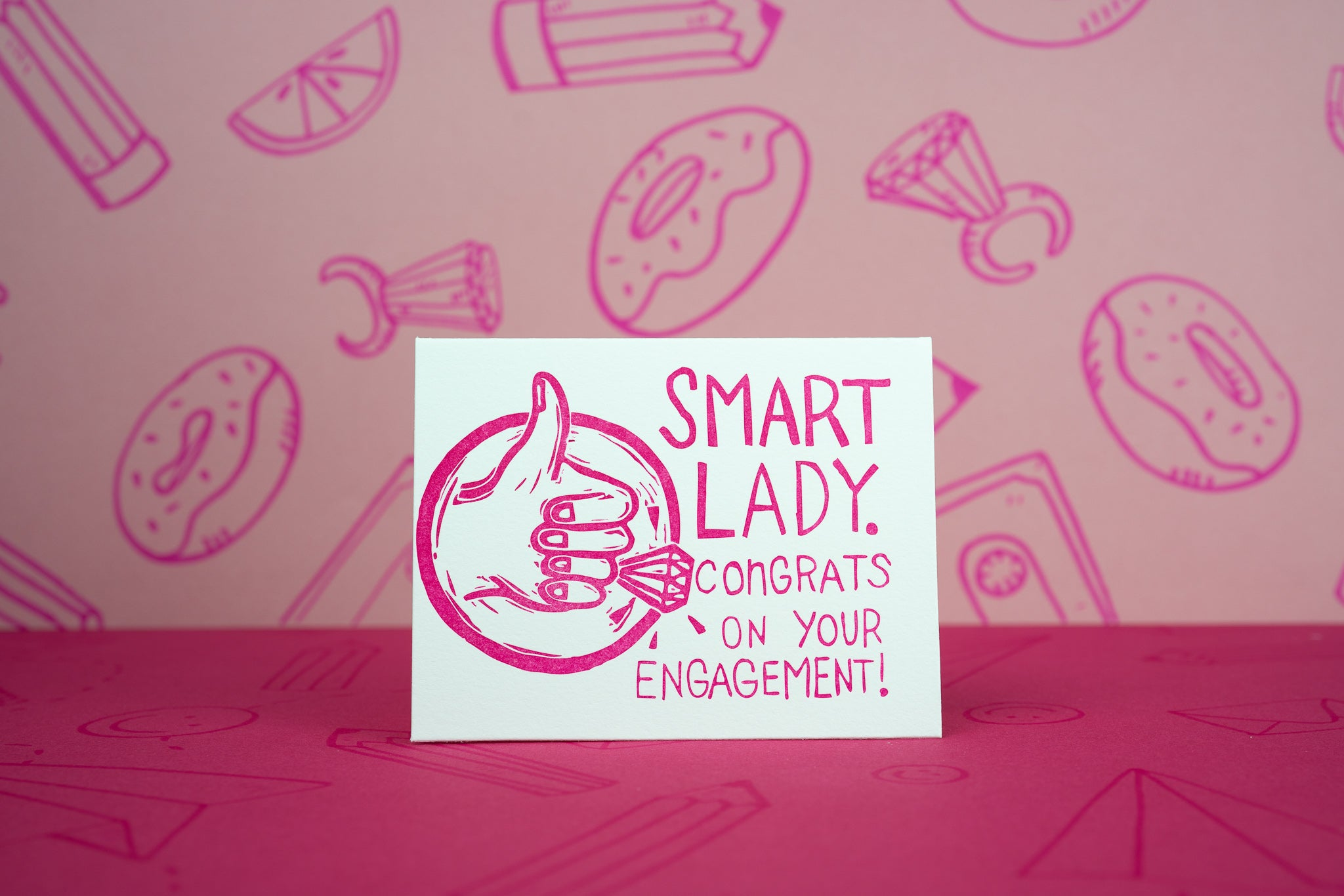 Smart Lady Engagement Card