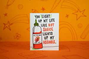 Light Up My Life Hot Sauce Card