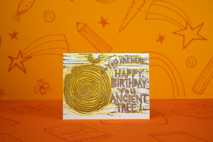 Ancient Tree Birthday Card
