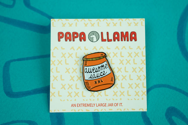 Awesome Sauce Enamel Pin