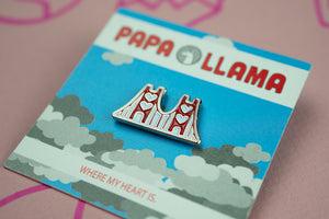 Golden Gate Bridge Love Enamel Pin