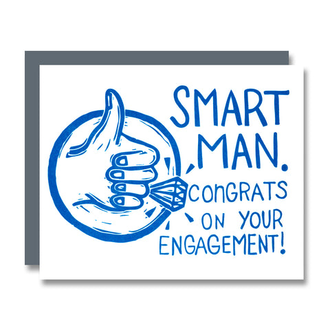 Smart Man Engagement Card