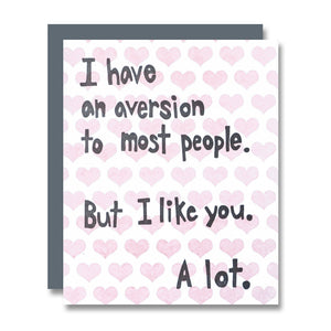 I Have an Aversion to Most People, Valentine's Day Edition
