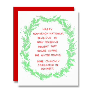 Happy Non-Denominational Holiday Card