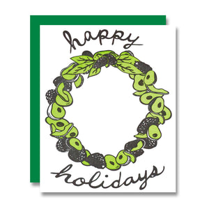 Avocado Wreath Holiday Card