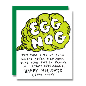 Egg Nog Holiday Card