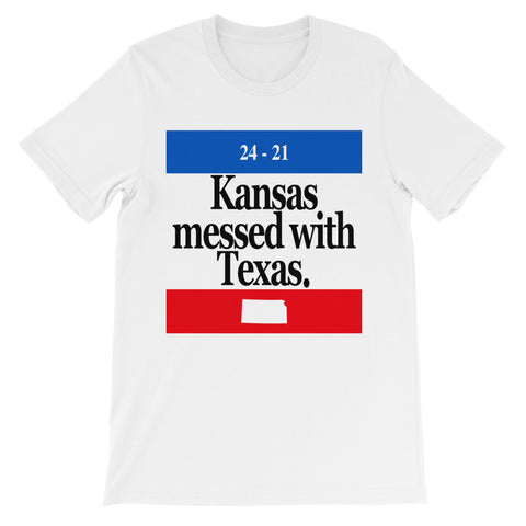 Kansas Messed With Texas T Shirt + Free Shipping