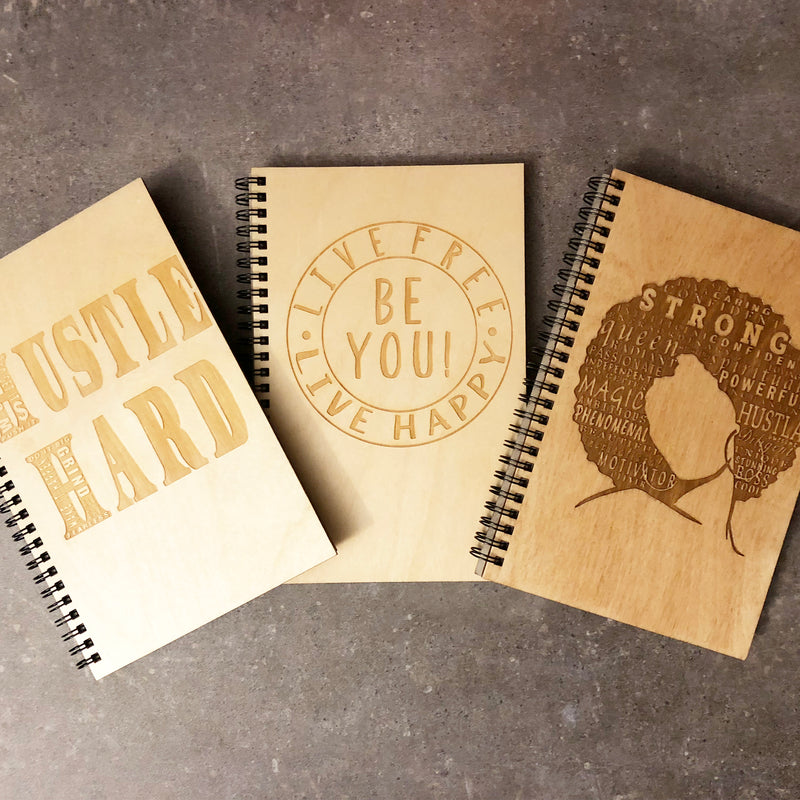 Half-Size Wood Notebooks