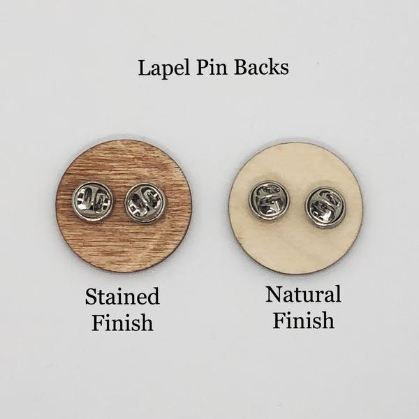 """Powerful AF"" Wood Lapel Pin"
