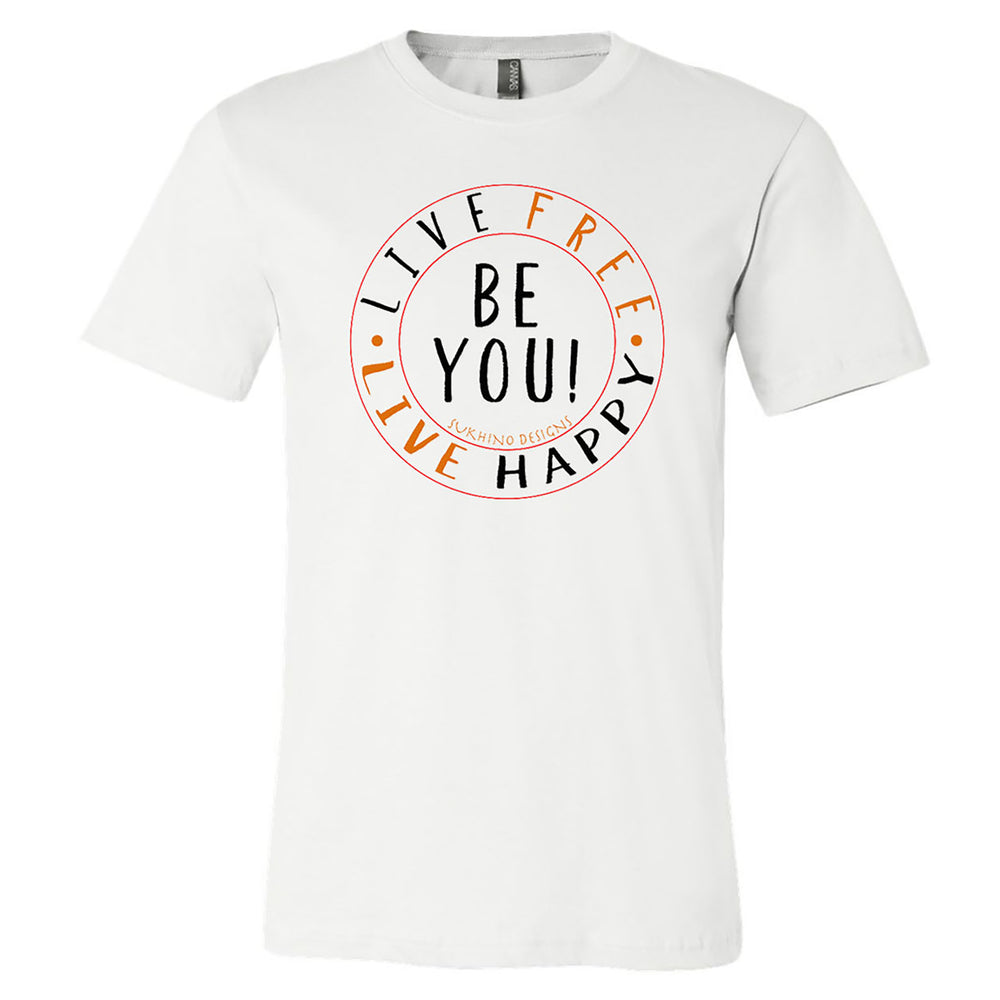 Live Free Live Happy Tri-Color T-Shirt