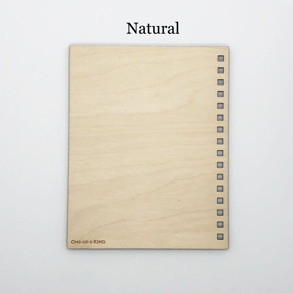 """Define Woman"" Wood Notebook"