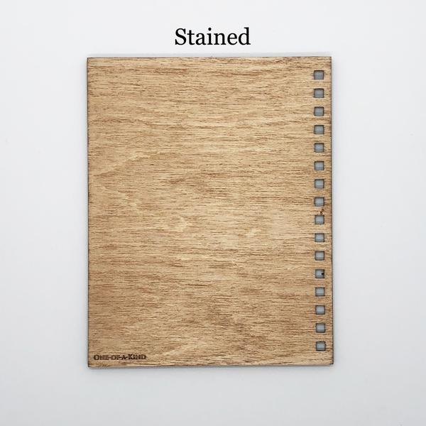 """Vent"" Mini Wood Notebook"