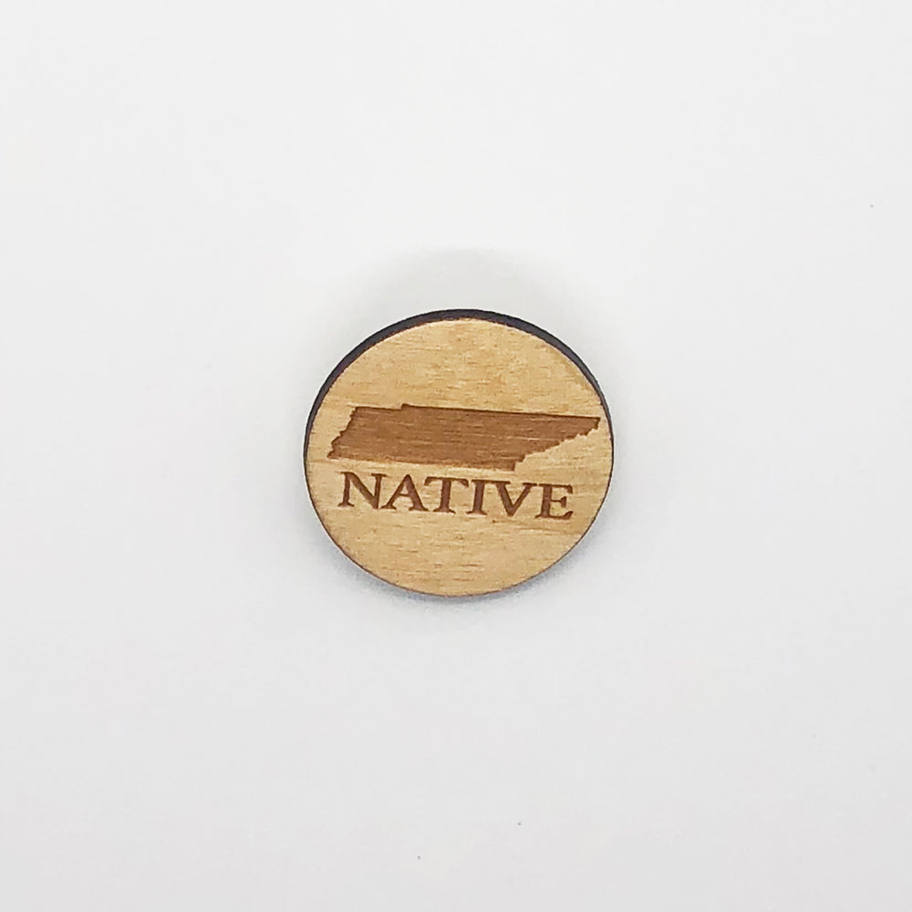 """Tennessee Native"" Wood Magnet"