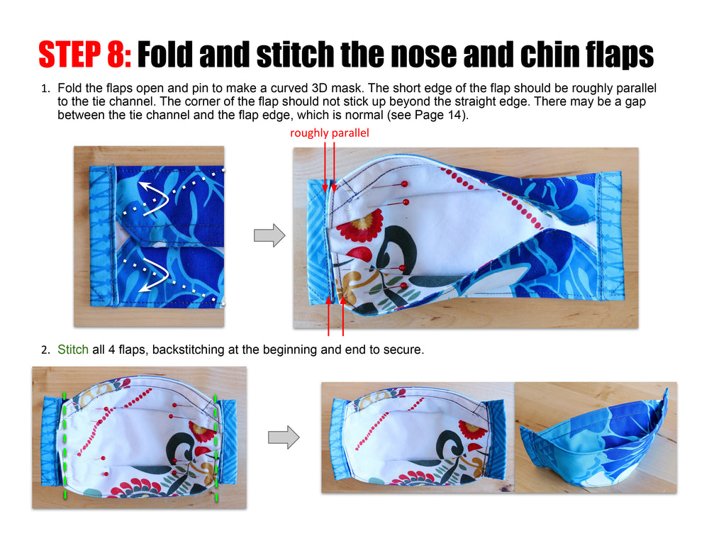Octagon Face Mask Sewing Pattern