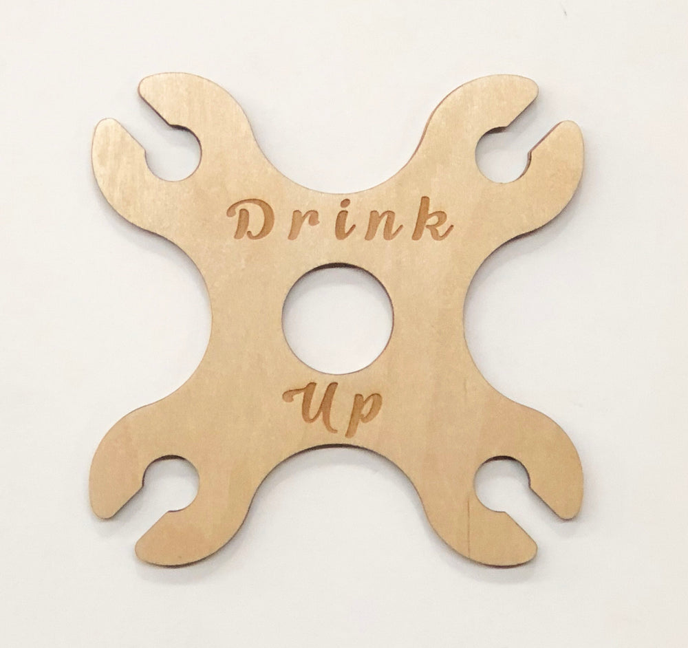 """Drink Up"" 4 Glass Wine Butler"