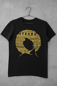 PRE-ORDER: Define Woman Black & Gold Shirt