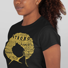 Load image into Gallery viewer, PRE-ORDER: Define Woman Black & Gold Shirt