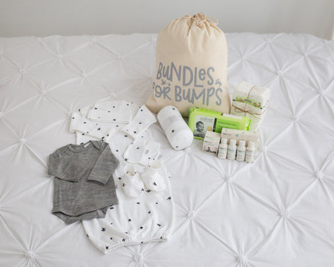 Baby Essentials - Pre Packed Hospital Bag | Black Star | Bundles for Bumps