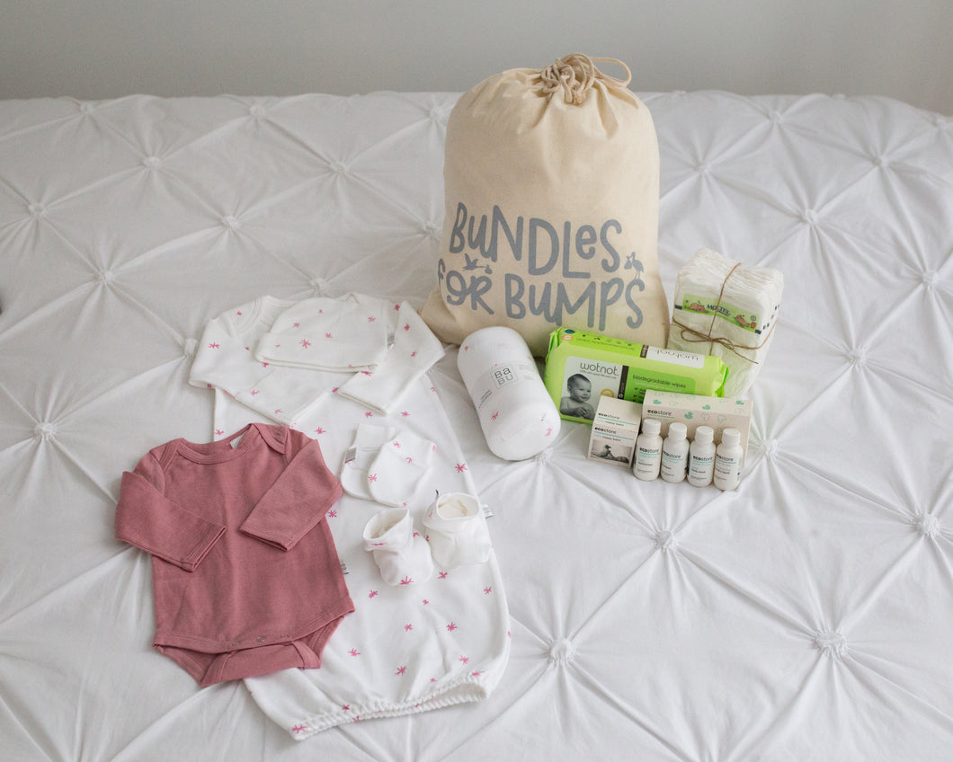 Baby Essentials - Pre Packed Hospital Bag | Pink Star | Bundles for Bumps