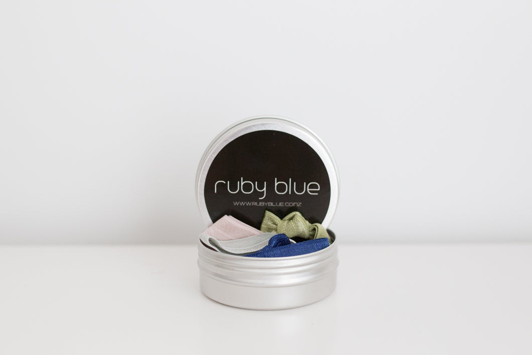 Bundles for Bumps Ruby Blue Hair Candy Tin