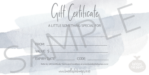 Bundles for Bumps Gift Voucher