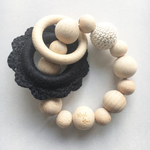 Wooden Crochet Teething Rattle