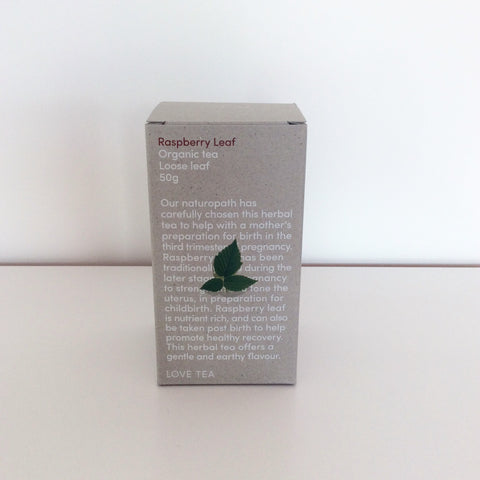 Love Tea Organic Raspberry Leaf Tea - Loose Leaf 50g