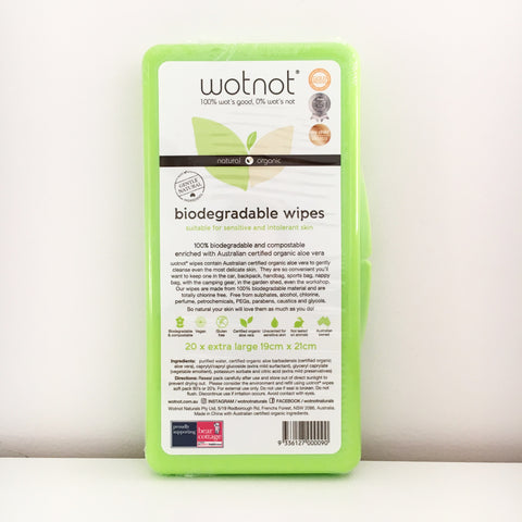Wotnot Biodegradable Baby Wipes Travel Case 20pk