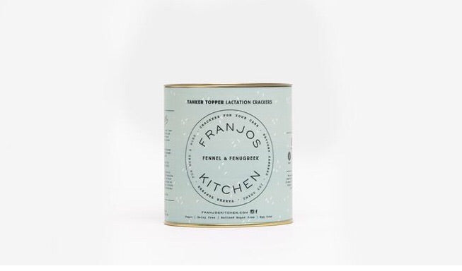 Franjos Kitchen Tanker Toppers - Fennel & Fenugreek Lactation Crackers
