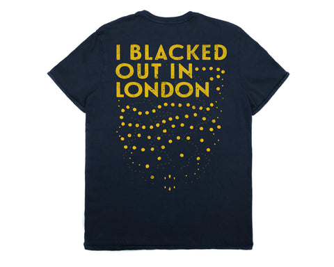 Blacked Out Mens T-shirt by Bluddy Blouson