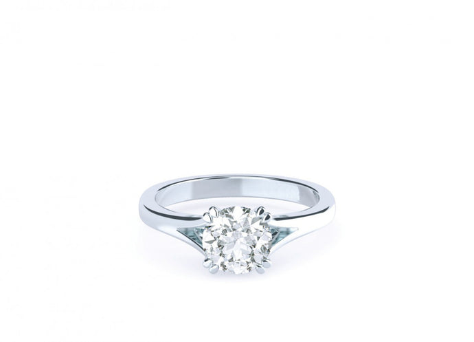Rose Brilliant | Split shank double claw solitaire