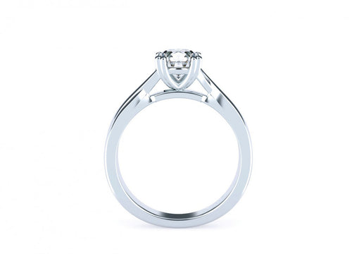 Acacia Brilliant | Intertwined double claw solitaire
