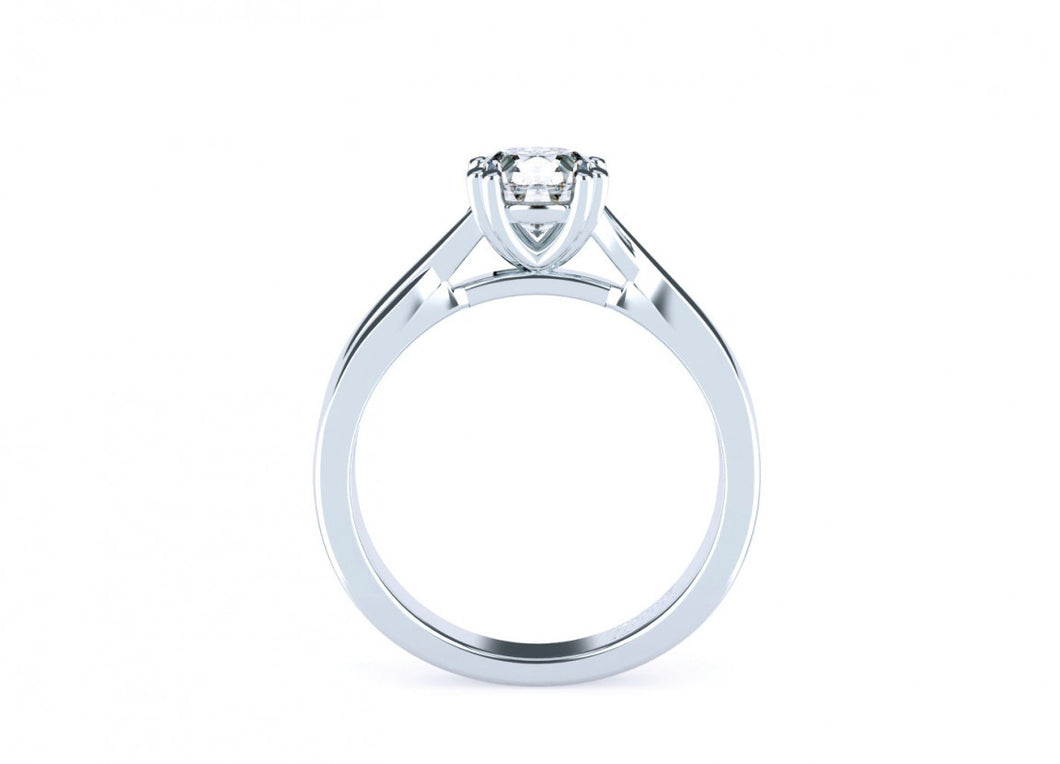 Acacia Classic | Intertwined double claw solitaire