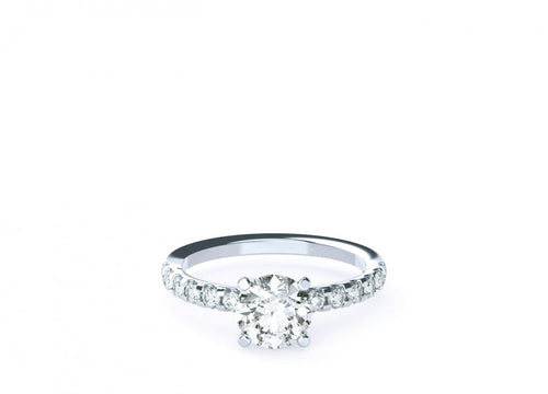 Indigo Brilliant | Diamond Accented Solitaire