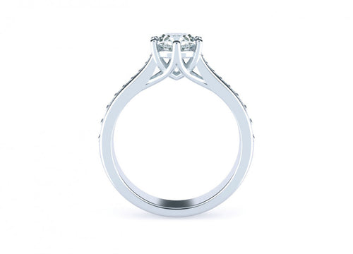 Iris Brilliant | Diamond accented solitaire