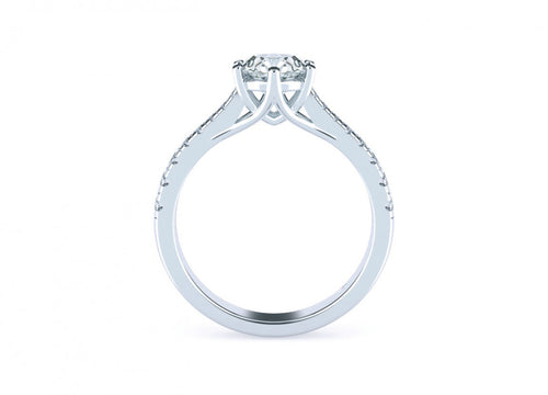 Clover Brilliant | Reverse taper six claw solitaire