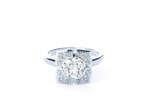 Willow Brilliant | Diamond Accented Halo