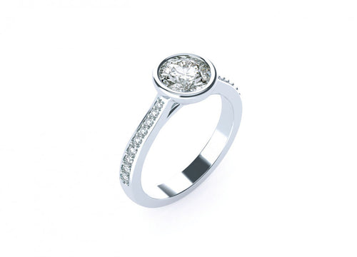 Jasmine Classic | Accented bezel solitaire