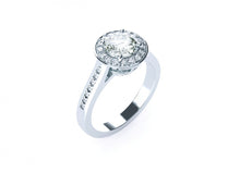 Apple Blossom Classic | Diamond accented Halo