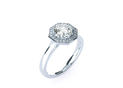 Sage Brilliant | Diamond Accented Octagonal Halo