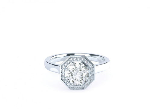 Sage Classic | Diamond Accented Octagonal Halo