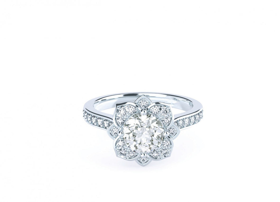 Lotus Classic | Diamond accented Halo