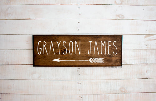 Arrow with Name Personalized Sign